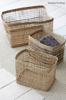 Set of 3 Mixed Weave Storage Baskets by Garden Trading