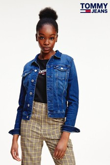Tommy Jeans Blue Vivianne Slim Denim Trucker Jacket
