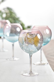 Set of 4 Lanie Ombre Gin Glasses