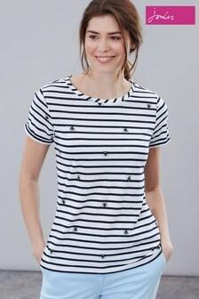 Joules Cream Nessa Print Lightweight Jersey T-Shirt