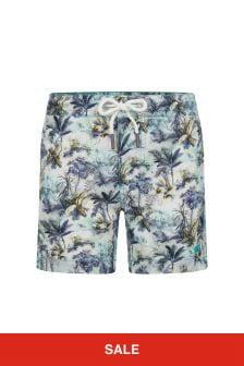 Bonpoint Boys Green Swim Shorts