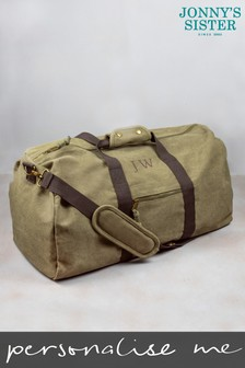 Personalised Large Canvas Holdall by Jonnys Sister