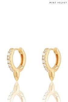 Mint Velvet Gold Plated Bullet Earrings