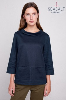 Seasalt Navy Polarising Magpie Top