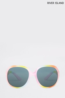 River Island Pastel Rainbow Glam Sunglasses