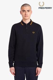 Fred Perry Polo Collar Sweatshirt