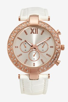 Chunky Case Sparkle Watch