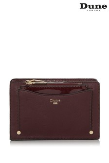 Dune London Berry Plain Synthetic Pouch Cross Body Bag