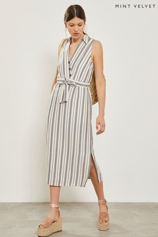 Mint Velvet Stripe Maxi Cocoon Dress