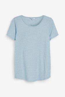 Cut Metallic Scoop T-Shirt