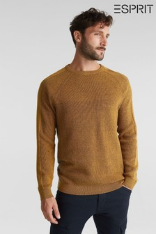 Esprit Yellow Crew Neck Sweater
