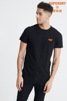 Superdry Black Fluorescent Embroidered T-Shirt