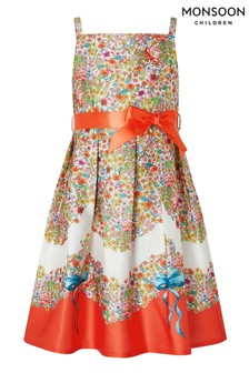 Monsoon Red Jasmine Ditsy Print Dress
