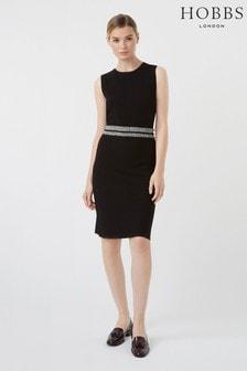 Hobbs Black Frankie Knitted Dress