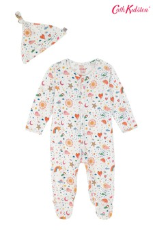 Cath Kidston® Cream Weather Sleepsuit And Hat Set