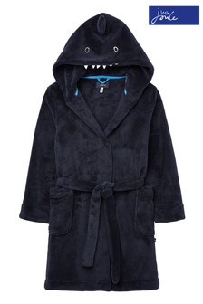 Joules Blue Shark Character Dressing Gown