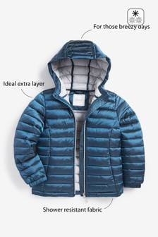 Shower Resistant Lightweight Short Padded Jacket (3-16yrs)