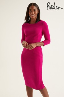 Boden Purple Leah Ottoman Dress