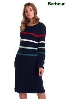 Barbour® Navy Shoreward Stripe Jumper Dress