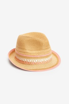 Pink Trim Trilby Hat (Older)