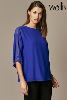 Wallis Blue Mix'N'Match Hotfix Blouse