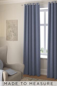 Windsor Navy Made To Measure Curtains