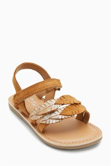 Leather Leaf Sandals (Younger)