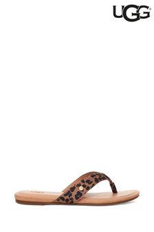 UGG® Animal Tuolumne Leopard Flip Flops