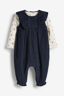 Cord Spot Dungarees And Bodysuit Set (0mths-2yrs)