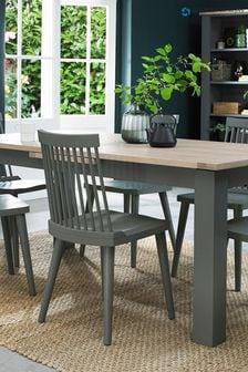 Oakham Dark Grey Scandi Oak 6 to 8 Dining Table by Bentley Designs