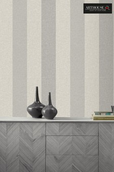 Linen Stripe Wallpaper by Arthouse