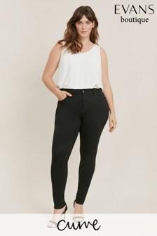 Evans Black Curve Regular Length Skinny Jeans