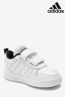adidas White/Black Tensaur Infant Trainers