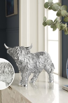 Silver Hamish The Highland Cow Ornament
