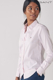 GANT Light Pink Stretch Oxford Banker Stripe Shirt