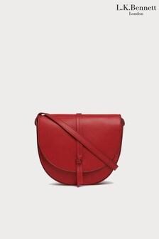 L.K.Bennett Red Bluebell Shoulder Bag