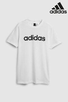 adidas White Logo T-Shirt