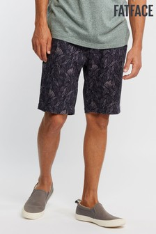 FatFace Blue Whitby Tonal Leaf Print Short