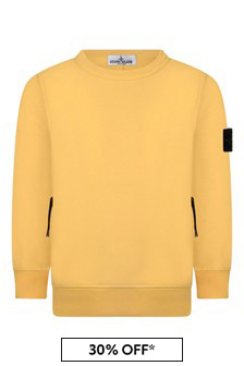 Boys Yellow Cotton Sweater