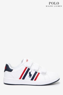Polo Ralph Lauren White Oaklynn Toddler Trainers