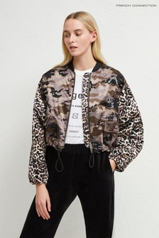 Zdobená bunda bomber French Connection Animal Belleza