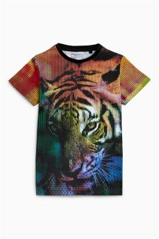 Glitched Tiger T-Shirt (3-16yrs)