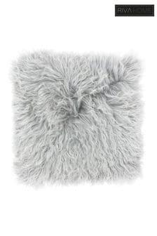 Riva Home Grey Mongolian Faux Fur Cushion