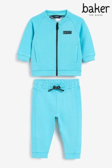 Baker by Ted Baker Blue Zip Through Sweat Top And Joggers Set