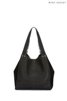 Mint Velvet Black Maggie Slouch Shoulder Bag