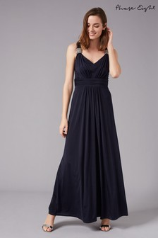 Phase Eight Blue Odetta Embellished Jersey Dress