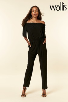Wallis Black Bardot Jumpsuit