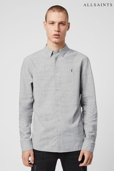 AllSaints Grey Norwood Long Sleeve Shirt