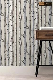 Distinctive Birch Tree Sidewall Wallpaper by Fine Décor