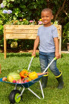 Little Tikes Growing Garden Wheel Barrow And Shovel 656477EUC